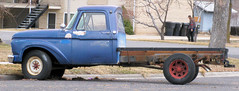 Old Ford Flatbed (Eyellgeteven) Tags: blue classic ford truck vintage rust rusty pickup dent rusted 1960s dents beater madeinusa americanmade flatbed dented 34ton eyellgeteven