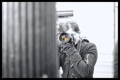 La Turista / The Tourist.- (ancama_99(toni)) Tags: pictures barcelona city vacation urban blackandwhite bw espaa woman white black blancoynegro monochrome photoshop 35mm cutout geotagged photography photo blackwhite mujer spain nikon women espanha europa europe foto photos bcn picture photographic catalonia ciudades fotos catalunya fotografia nikkor espagne vacaciones barcellona catalua catalan spanien barcelone spagna 2012 pasoscatalans urbanas citys fotografas d60 laribera catalogne fotowalk 10favs 10faves nikond60 blackwhitephotos ancama99 blinkagain