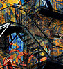 """Stepping"" out of the Confusion (It's a Keeper) Tags: streetart abstract brick art texture net wall stairs graffiti video movement colorful cloning urbanart fireescape maze confusion humpbackwhale scripture heartwarmingstory itsakeeper riotofcolours nikond7000 colorcarousel debbiefrileyphotography beautifulconfusion nylongillnet dsc3066001 imstuckbutiwanttobefree eyepoppingimage melodicchaos mesmerizinglinesandcolor yourdescriptionscomments"