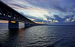 Sunsets by Oresunds briidge. 20120303-DSC00592 (Arun Jr) Tags: sweden malmö sonynex sel1855 flickrcomarunjrk