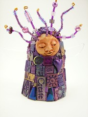 Muse-revisited (Glass Garden Creations / Sharon Kelly) Tags: sculpture art wire handmade mosaic mixedmedia buttons ooak muse polymerclay bead etsy glassgardencreations