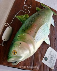 Trout Cake (springlakecake) Tags: fish cake 3d trout steelhead sculpted