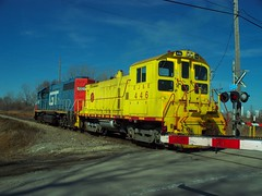 Yes! EJ&E 446 at Pine Jct. (Jack (That's Captain) Morgan) Tags: city pine yard four j see track awesome indiana grand junction single leslie western trunk gary elgin horn gt must ge six eastern kirk joliet chime switcher eje fourty in emd sw1500 jct sw1200 gp15 sw1400
