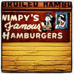 Dallas Photographer - Wimpy's Famous Hamburgers Oak Cliff Red Yellow Sign Texas IMG_6315 (David Kozlowski) Tags: cliff west dallas oak texas photographer si el oakcliff hay taqueria bishopartsdistrict dallasphotographer
