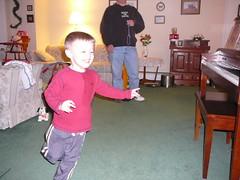 chase at Nan Ann and Grandpop's house