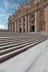 Vatican White (Khrush) Tags: vatican rome roma vaticano sanpietro rym snowinthevatican