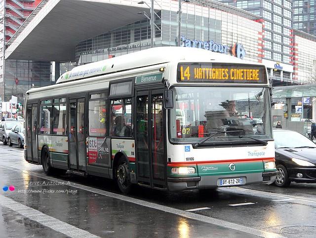 Irisbus Agora S GNV TRANSPOLE n°10106