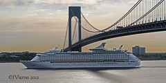 RCCL E of the Seas (JVierno77) Tags: ocean bridge cruise blue ny newyork water brooklyn canon rebel bay photo ship 1855mm statenisland narrows t3i rccl verrazano royalcarribean exploreroftheseas vz fortwadsworth vznarrowsbridge