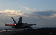 F/A-18E Takes Off (Official U.S. Navy Imagery) Tags: arabiangulf wwwfacebookcomusnavy