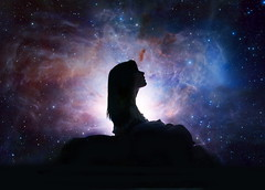 Dream World (Molly Zacher Photography) Tags: world light sleeping sky moon silhouette night stars star bed time sleep dream dreaming nebula blanket