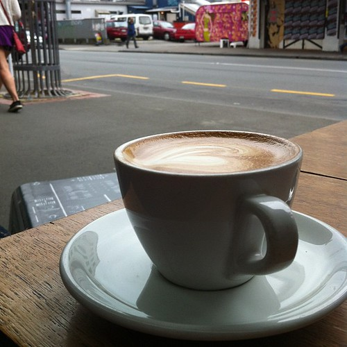 Having another flat white