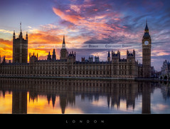 London (Beboy_photographies) Tags: sunset london thames de soleil big ben coucher bigben reflet londres angleterre uni hdr tamise royaume