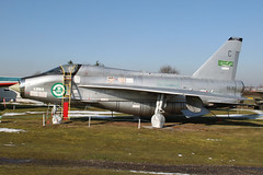 ZF598/55-713 - English Electric Lightning T.55, now restored to Royal Saudi Air Force colours (egcc) Tags: snow english electric museum force c air royal saudi lightning coventry midland b1 cvt rsaf baginton t55 egbe 95026 55713 zf598