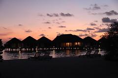 ♥ (D o 7 ε) Tags: sunset sea sun beach night playa maldives laplaya seaset