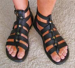 ash gladiators (florida sandalman) Tags: feet sandals bare barefoot strappy