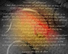 """""""Circles of Diffusion"""" (YAZMDG (16,000 images)) Tags: dedication print book bokeh script typo yaz circlesofdiffusion yazmdg ystudio yazminamichledegaye"""