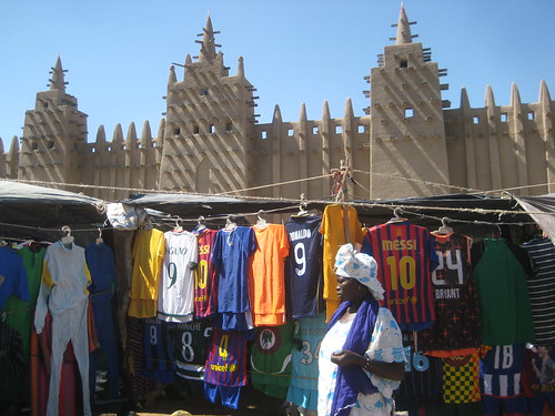 Djenne market and mosque