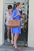 Frankie Sandford and Rochelle Wiseman of The Saturdays shopping in Beverly Hills. During the shopping trip, Frankie purchased a vintage Louis Vuitton Case and a gift for mum to be Una from Tutu Los Angeles, California