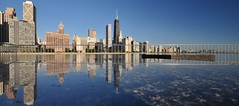 Skyline Reflection... (Seth Oliver Photographic Art) Tags: chicago reflections landscapes illinois nikon midwest skyscrapers cityscapes pinoy streeterville circularpolarizer chicagoskyline urbanscapes secondcity windycity chicagoist d90 olivepark cityofbigshoulders setholiver1 1024mmtamronuwalens nopostworkexceptforcroppingtopanomode