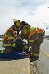 Grandview Fire Department Saving Lives (Joseph Pollock) Tags: school bus car hospital fire crash mo driver grandview department injuries collsion josephpollock