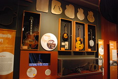 Heritage Guitar Works display -- Kalamazoo Valley Museum 106 (Corvair Owner) Tags: museum mi hands downtown antique michigan science historic valley mich kalamazoo exhibits 2012 kalamazoovalleymuseum