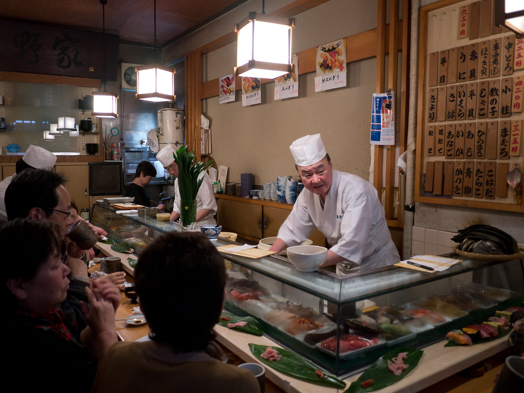Tsukiji Sushi Restaurant, by Reed A. George