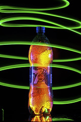 Light Painting (Fahad Al-Robah) Tags: blue light orange green painting drinks jar 7up