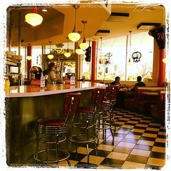Fifties retro diner in Ukiah (radiowood) Tags: california square cafe diner retro burgers ukiah bebops iphoneography