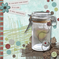 Let Your Heart Breathe (sbpoet) Tags: art collage digital scrapbooking heart journal jar digi