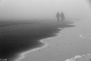 Foggy beach (B/W) [Explore Mar 11, 2012]