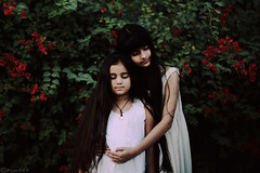 Fragile hearts (Bhumika.B) Tags: girls white art sisters canon hair hearts photography hands support hug truth natural longhair trust honesty fragile closure sisterhood