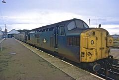 37114 at Thurso HR scan (Deepgreen2009) Tags: roof station train scotland railway line full brake 37 farnorth inverness thurso