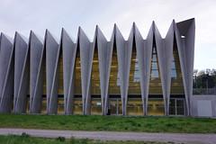Sportzentrum Mülimatt Brugg (gali367) Tags: schweiz switzerland ag architektur turnhalle aargau halle gebäude beton brugg sporthalle windisch sportzentrum faltwerk sportausbildungszentrum mülimatt faltbau faltbauwerk
