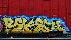 Reken (nunya...nunyabusiness) Tags: art train graffiti paint graf tracks spraypaint boxcar atw benching reken