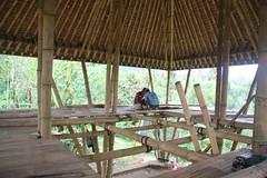 Working on outer floor (SimonEvans1) Tags: bali house bamboo greenworld batukaru tabanan tosend