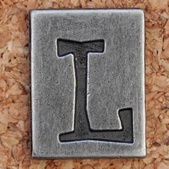 Pewter Ransom Font L (Leo Reynolds) Tags: canon eos iso100 letter l 60mm f8 oneletter lll letterset 0ev 025sec 40d hpexif grouponeletter letterpewter letterpewterransom xsquarex xleol30x xratio1x1x xxx2012xxx