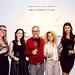 Jordan Winery 4 on 4 Art Competition judges (from left): Lauren Wagner of Bakehouse Art Complex, Susanne Birbragher of ArtNexus, Chef Michael Schwartz of Michael's Genuine Food & Drink, Nina Johnson of Gallery Diet and Roxanne Vargas of NBC 6