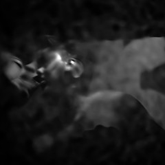 the kiss (Vasilis Amir) Tags: portrait blackandwhite blur reflection male water monochrome square kiss kissing couple experimental reflexions  abstractportrait  vasilisamir