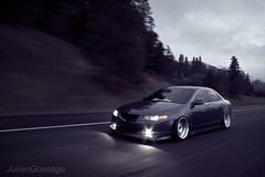 Rolling Hard (Julian Gossage) Tags: hard society acura rolling slammed tsx hellaflush