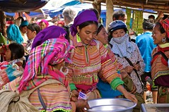 Vietnam : Hmongs barioles (frankyb66) Tags: costumes asia vietnam asie hanoi lolo ethnic couleur halong hmong tribu ethnie