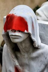 Hmmm........Can't Think of a Caption (Barbiehg) Tags: portrait sculpture art fitzroy suburbia melbourne granite bizarre whimsical