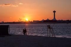 Abu Dhabi Sunset (andrewrowell3) Tags: holiday beach dubai united uae sigma emirates abudhabi arab 5d abu dhabi 2470 5dmarkii