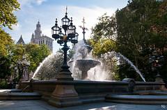 City Hall Park (noukorama) Tags: park usa newyork cityhall cityhallpark foutain