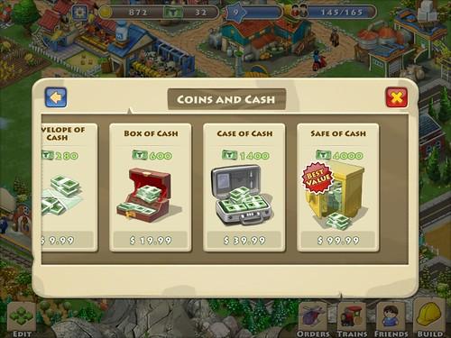Township Virtual currency Bank: screenshots, UI