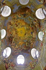 Painted Ceiling (tony.evans) Tags: vienna bunny museum train garden easter freedom austria snowman globe ruins december cathedral roman library palace beethoven syria ferriswheel belvedere chopin heroes fascism neptune mozart franzjosef prater austrian strauss hofburg schonbrunn gloriette ststephenscathedral ststephen nationallibrary coch franzjoseph johannstrauss uniqa schnbrunnpalace franzjosephi pasqualithaus