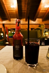 Wild blueberry nectar (A. Wee) Tags: france restaurant hotel blueberry pashmina valthorens     lerefuge alainmilliat lebasecamp