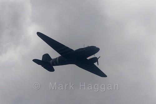 A Dakota from the Battle of Britain Memorial Flight at Moira Canal Festival 2016