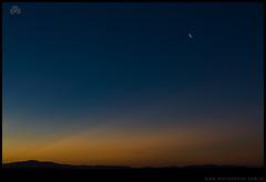 Atardecer y Luna en Zapala