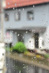 View to my neighbours house (:Linda:) Tags: rain germany village drop thuringia droplet neighbour windowpane brden