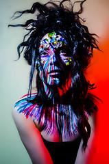 Mibstress 9 (Jef Harris) Tags: portrait lightsandshadows ottawa bodypaint wig facepaint homestudio creativemakeup jefharris